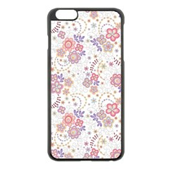 Flower Floral Sunflower Rose Purple Red Star Apple Iphone 6 Plus/6s Plus Black Enamel Case