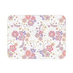 Flower Floral Sunflower Rose Purple Red Star Double Sided Flano Blanket (mini)
