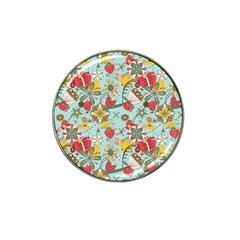 Flower Fruit Star Polka Rainbow Rose Hat Clip Ball Marker