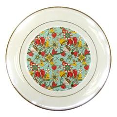 Flower Fruit Star Polka Rainbow Rose Porcelain Plates