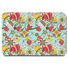 Flower Fruit Star Polka Rainbow Rose Large Doormat