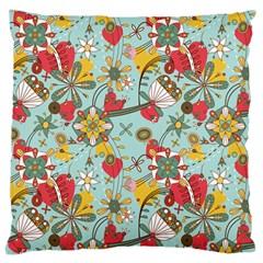 Flower Fruit Star Polka Rainbow Rose Large Cushion Case (two Sides)
