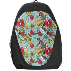 Flower Fruit Star Polka Rainbow Rose Backpack Bag