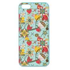 Flower Fruit Star Polka Rainbow Rose Apple Seamless Iphone 5 Case (color)