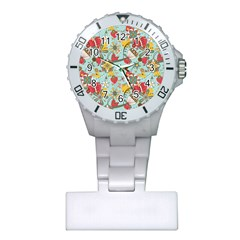 Flower Fruit Star Polka Rainbow Rose Plastic Nurses Watch