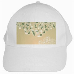Flower Frame Green Sexy White Cap