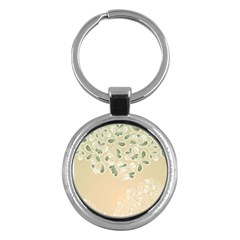 Flower Frame Green Sexy Key Chains (round)