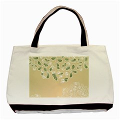 Flower Frame Green Sexy Basic Tote Bag
