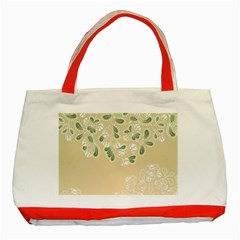 Flower Frame Green Sexy Classic Tote Bag (red)