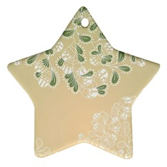 Flower Frame Green Sexy Star Ornament (two Sides)