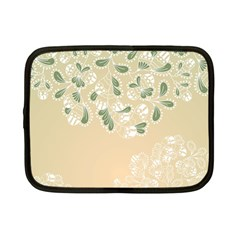Flower Frame Green Sexy Netbook Case (small)