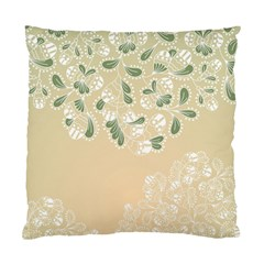 Flower Frame Green Sexy Standard Cushion Case (one Side)