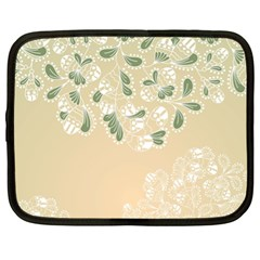 Flower Frame Green Sexy Netbook Case (xl)