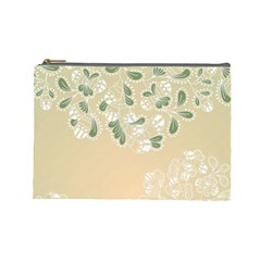 Flower Frame Green Sexy Cosmetic Bag (large)