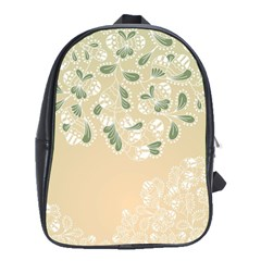 Flower Frame Green Sexy School Bag (large)