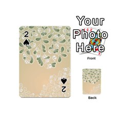 Flower Frame Green Sexy Playing Cards 54 (mini)