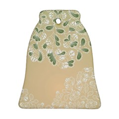 Flower Frame Green Sexy Bell Ornament (two Sides)
