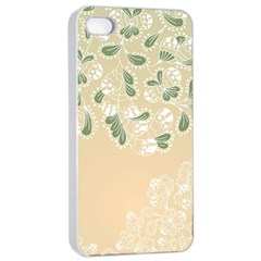 Flower Frame Green Sexy Apple Iphone 4/4s Seamless Case (white)