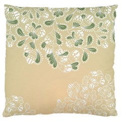 Flower Frame Green Sexy Large Cushion Case (two Sides)