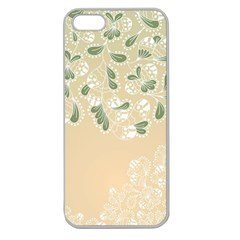 Flower Frame Green Sexy Apple Seamless Iphone 5 Case (clear)