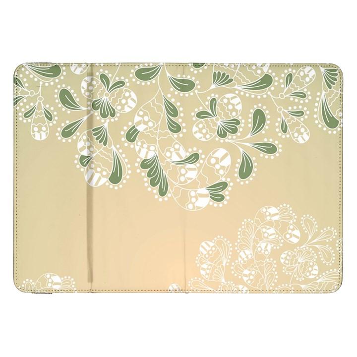 Flower Frame Green Sexy Samsung Galaxy Tab 8.9  P7300 Flip Case