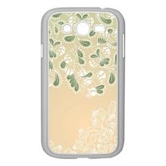Flower Frame Green Sexy Samsung Galaxy Grand Duos I9082 Case (white)