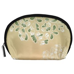Flower Frame Green Sexy Accessory Pouches (large)