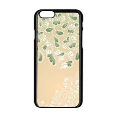 Flower Frame Green Sexy Apple Iphone 6/6s Black Enamel Case