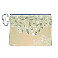 Flower Frame Green Sexy Canvas Cosmetic Bag (l)