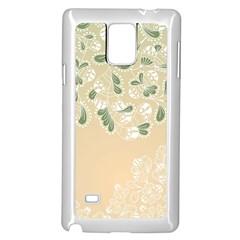 Flower Frame Green Sexy Samsung Galaxy Note 4 Case (white)