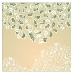 Flower Frame Green Sexy Large Satin Scarf (square)