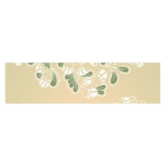 Flower Frame Green Sexy Satin Scarf (oblong)