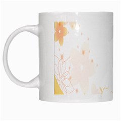 Flower Floral Yellow Sunflower Star Leaf Line White Mugs
