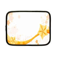 Flower Floral Yellow Sunflower Star Leaf Line Netbook Case (small)