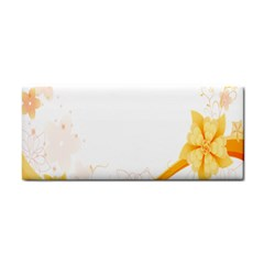 Flower Floral Yellow Sunflower Star Leaf Line Cosmetic Storage Cases