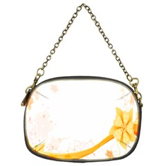 Flower Floral Yellow Sunflower Star Leaf Line Chain Purses (one Side)