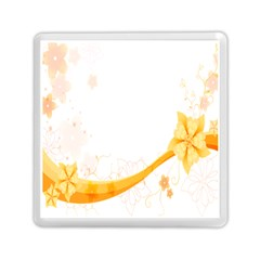 Flower Floral Yellow Sunflower Star Leaf Line Memory Card Reader (square)