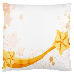 Flower Floral Yellow Sunflower Star Leaf Line Large Cushion Case (two Sides)