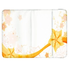 Flower Floral Yellow Sunflower Star Leaf Line Samsung Galaxy Tab 7  P1000 Flip Case