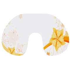 Flower Floral Yellow Sunflower Star Leaf Line Travel Neck Pillows