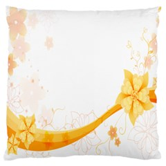 Flower Floral Yellow Sunflower Star Leaf Line Standard Flano Cushion Case (two Sides)