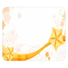 Flower Floral Yellow Sunflower Star Leaf Line Double Sided Flano Blanket (small)