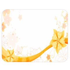 Flower Floral Yellow Sunflower Star Leaf Line Double Sided Flano Blanket (medium)