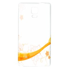 Flower Floral Yellow Sunflower Star Leaf Line Galaxy Note 4 Back Case