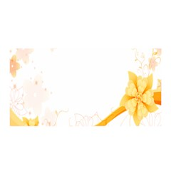 Flower Floral Yellow Sunflower Star Leaf Line Satin Wrap
