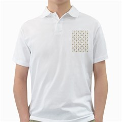 Flower Leaf Gold Golf Shirts