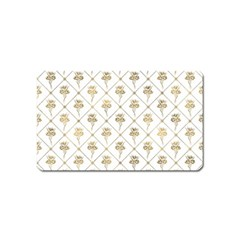 Flower Leaf Gold Magnet (name Card)