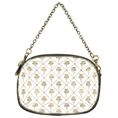 Flower Leaf Gold Chain Purses (one Side)