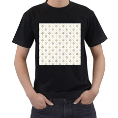 Flower Leaf Gold Men s T Shirt (black)