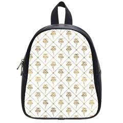 Flower Leaf Gold School Bag (small)